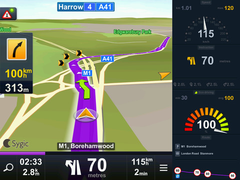 Sygic Aura Drive France Navigation GPS iPad Screenshot 2
