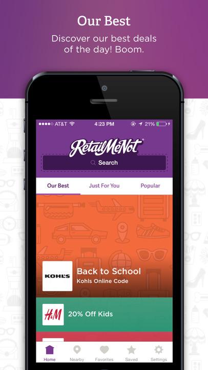 RetailMeNot Coupons - iPhone Mobile Analytics and App Store Data