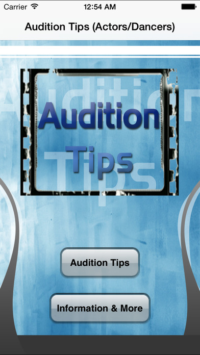Audition Tricks & Tips for Actors and Dancers iPhone Screenshot 1