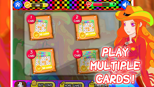 Wild West Multi Card Bingo - Cool Lucky Jackpot Bash PRO