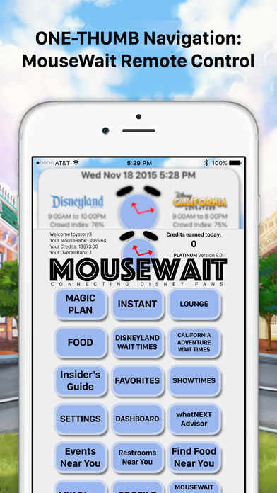Disneyland MouseWait Social Wait Times FREE iPhone Screenshot 4