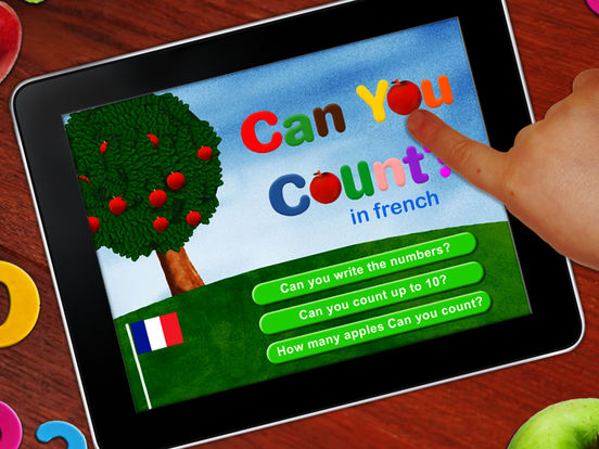 Learn to count in French! French numbers for kids iPad Screenshot 1