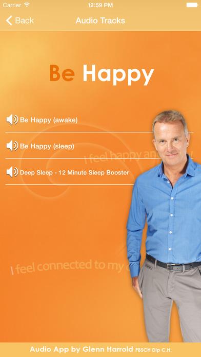 Be Happy - Hypnosis Audio by Glenn Harrold iPhone Screenshot 2