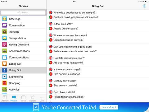 Screenshot #3 for Portuguese Dictionary & Translator +