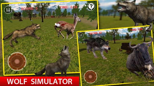 Wolf Simulator 3D Game
