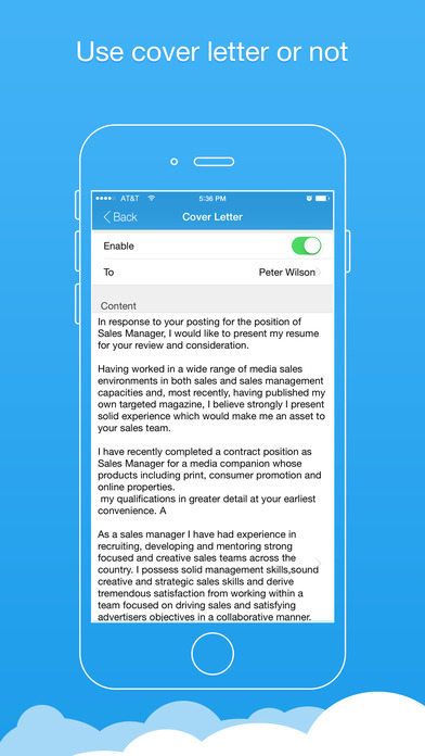resume producer app for iphone reviews screenshots