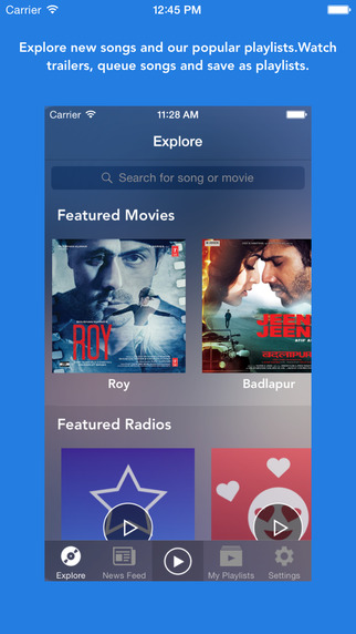 Suur - Free unlimited Bollywood music and videos app