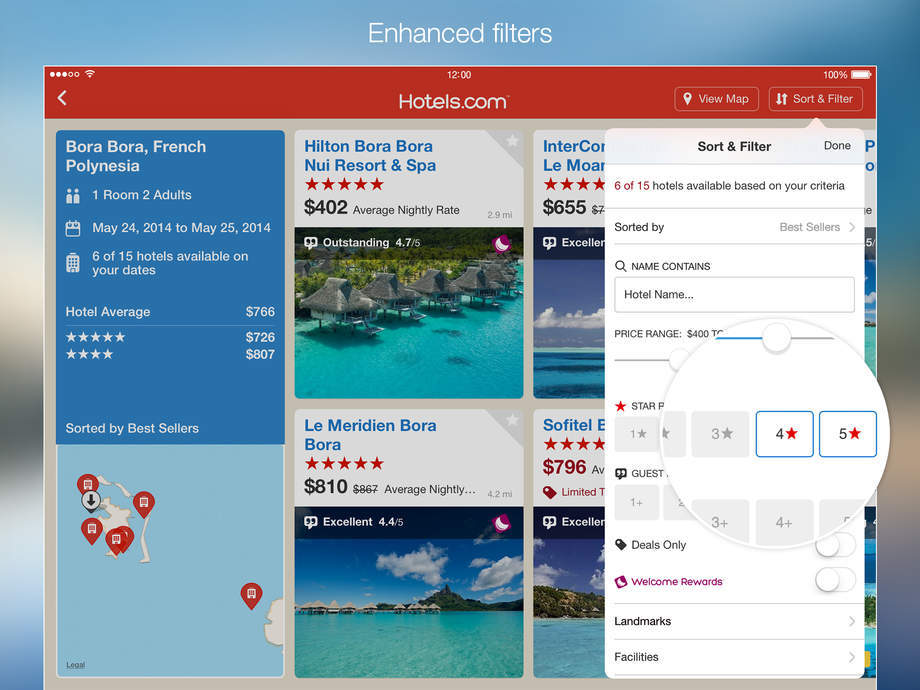 Hotels.com Hotel Booking and last minute hotel deals . - iPhone Mobile Analytics and App Store Data