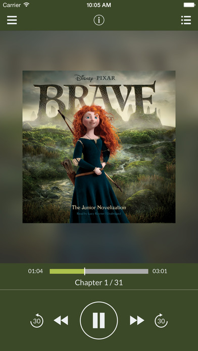 Brave: The Junior Novelization by Disney Press UNABRIDGED AUDIOBOOK