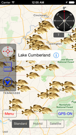 Kentucky-Tennessee: Fishing Lakes