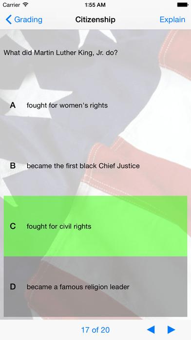 U.S. Citizenship Test iPhone Screenshot 1