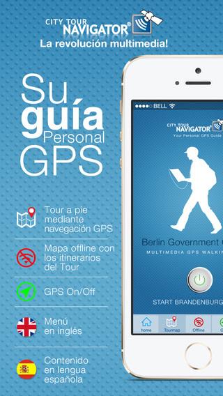 Berlín Barrio Gubernamental guía: Tour a pie paseo multimedia GPS vídeo y audioguía con mapa offline