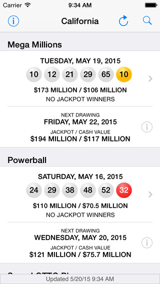 Lotto Results - Mega Millions Powerball and State Lottery Games in the US