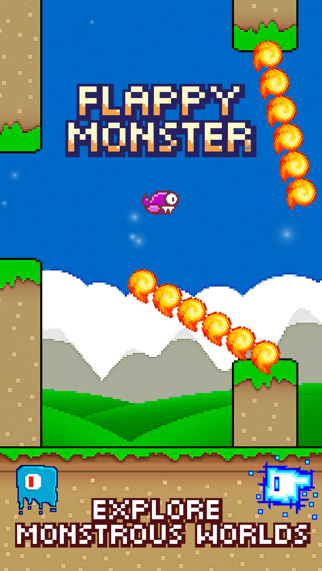 Screenshots of The Awesome Flappy Monster Cool Addicting Games for Free for iPhone