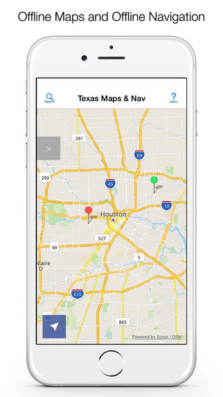 Texas Offline Maps and Offline Navigation