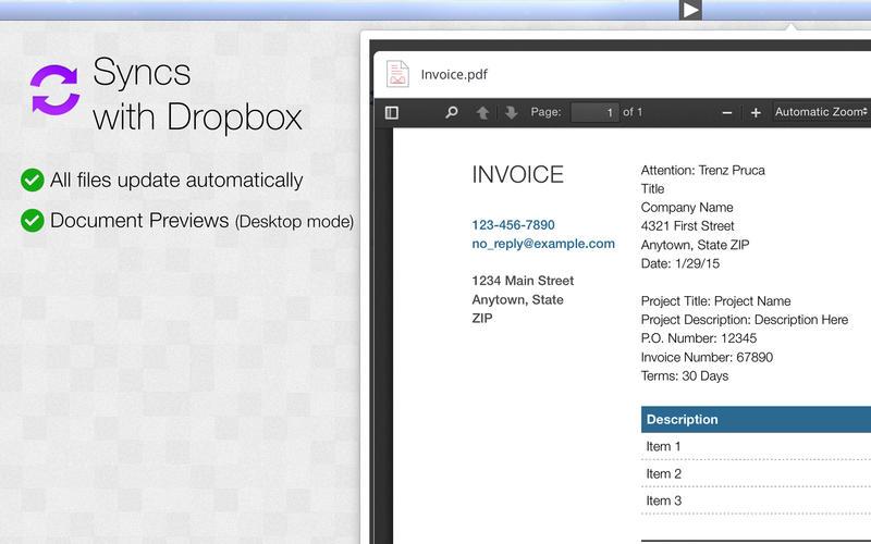 App for Dropbox Screenshot - 2