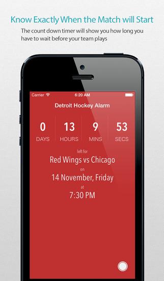 Detroit Hockey Alarm Pro