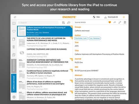 《参考工具 文献管理 : EndNote for iPad》