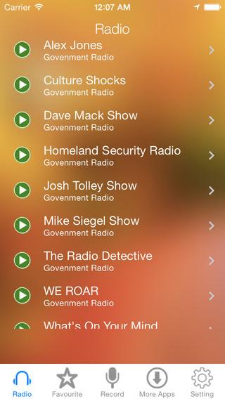 Government Radio Recorder
