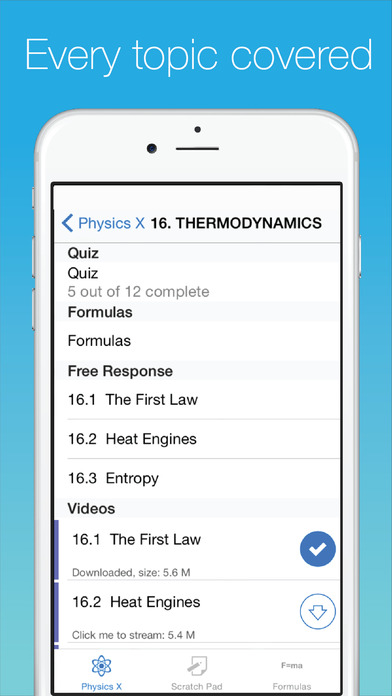 Physics X: College, AP, SAT and MCAT Screenshots