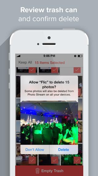 照片管家:Flic – 删除和管理相机胶卷照片