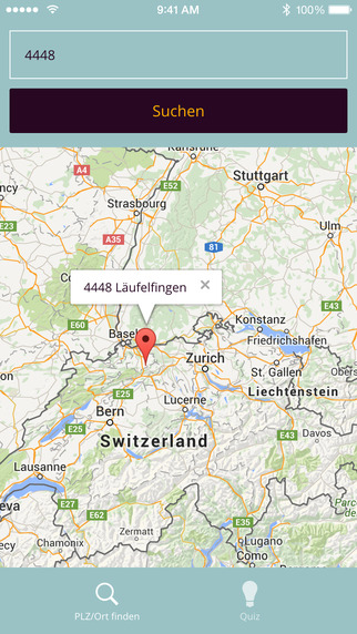 Postleitzahlen Schweiz Quiz