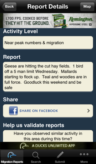 Ducks Unlimited Waterfowl Migration App - AppRecs