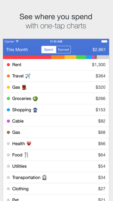 Savings – Simple Checkbook, Money Tracker Screenshots