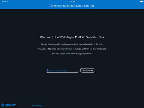 P2strategies Portfolio Simulation Tool