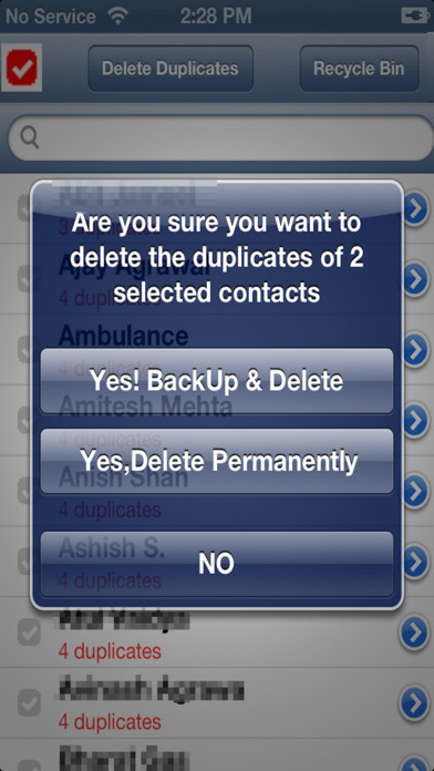 Delete Duplicate Contacts: Back Up & Restore iPhone Screenshot 4