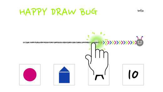 Happy Draw Bug - Shapes Letters Numbers