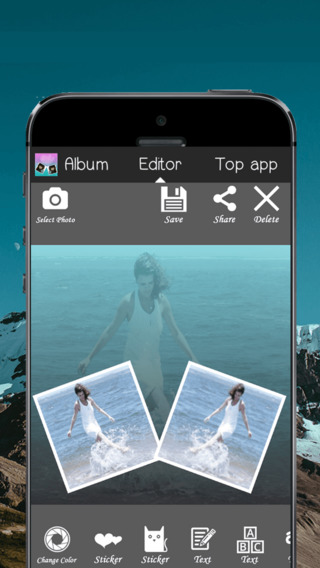 Square Photo Mirror - Photo Collage with Filters and Color Effects