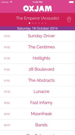 Oxjam Cambridge Takeover - 2014 festival programme