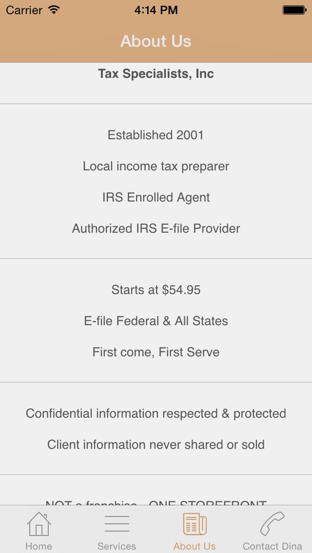 Dina's Tax App para iPad y iPhone - descargar