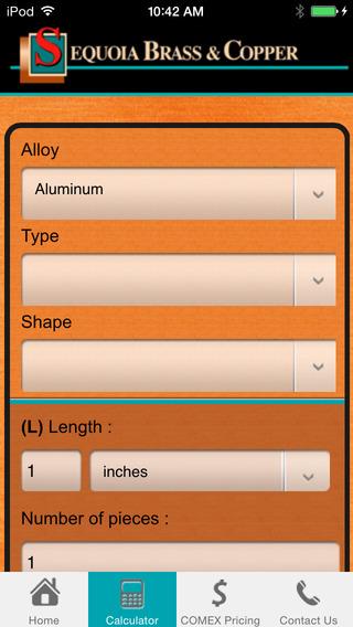 Copper Alloy Weight Calculator