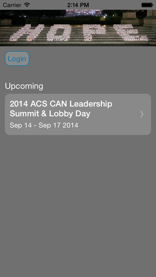 ACS CAN Meetings Events