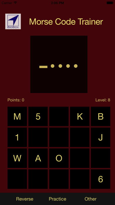 Morse Code Training iPhone Screenshot 2