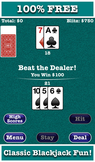 Blackjack Blitz - Beat the Dealer in a Quick and Fun Black Jack Blast