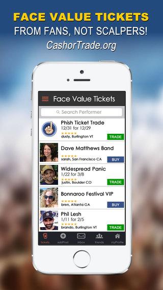 CashorTrade.org Face Value Tickets - Buy Sell Trade Concert Tickets Festival Tickets Sports Tickets
