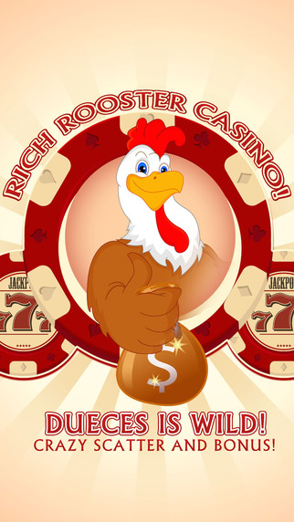 Rich Rooster Casino Pro Deuces is Wild Crazy scatter and bonus