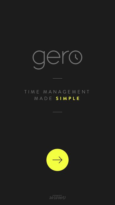 Gero Time Management Companion Screenshot