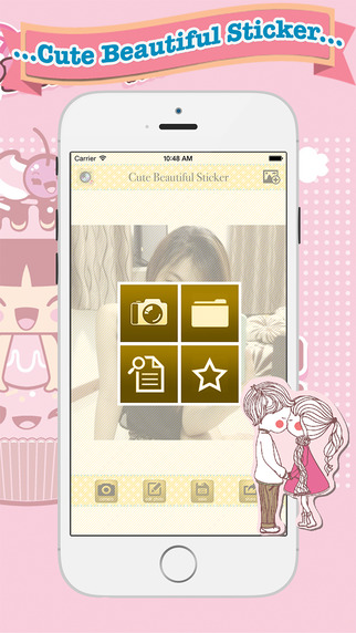 Cute Beautiful Sticker - photo editor filters effects camera plus frames for your