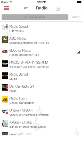 Radio, listen, broadcasts, stations, music, news, apple, iOS, shows, free, online, live, Bangladesh