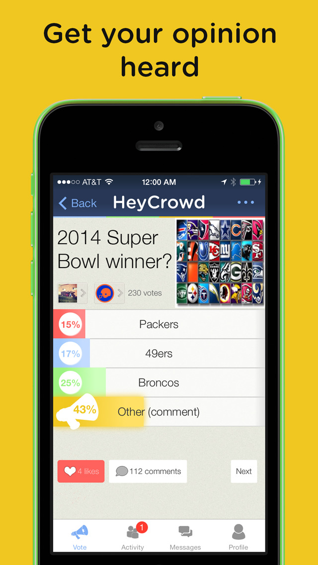 HeyCrowd - quiz game, polls and surveys for free screenshot 3