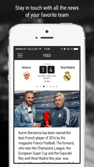 Real Live – Live Scores Results News for Real Madrid Fans