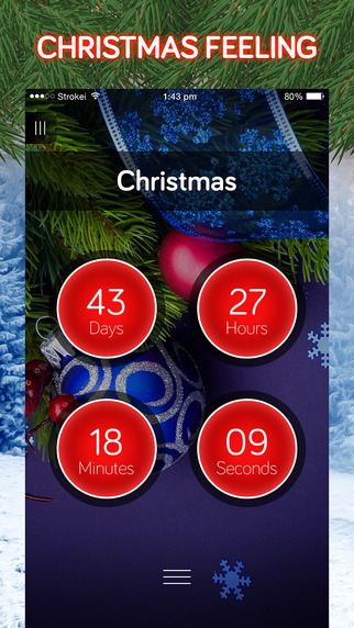 CountDown for New Year 2016 Christmas