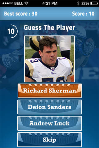 Guess American Football Player - NFL Quiz screenshot 3