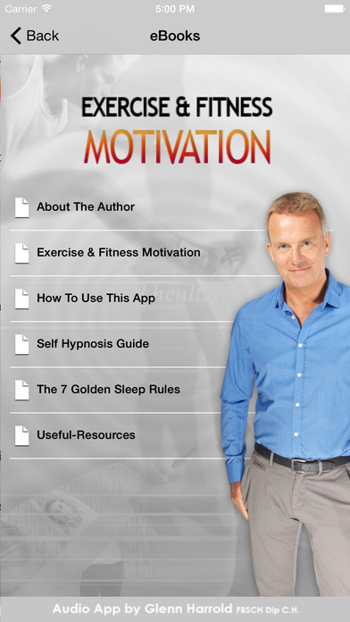 Exercise & Fitness Hypnosis Motivation by Glenn Harrold iPhone Screenshot 4