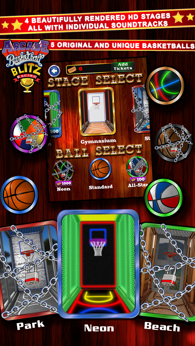 Screenshots of Arcade Basketball Blitz Online for iPhone
