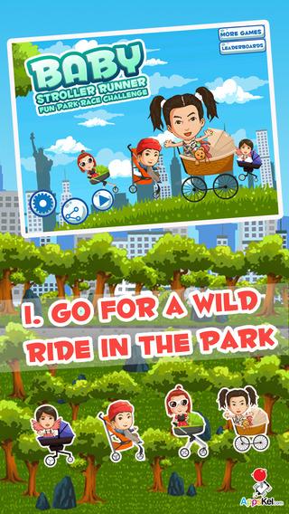 Baby Stroller Runner Pro - Fun Park Race Challenge